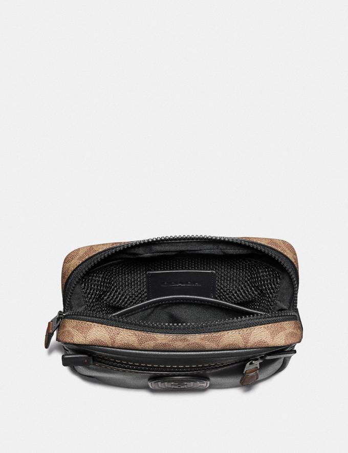 Coach Academy L-Pack With Signature Canvas Blocking and Coach Patch Black/Khaki/Black Copper New Men's New Arrivals Bags Alternate View 2