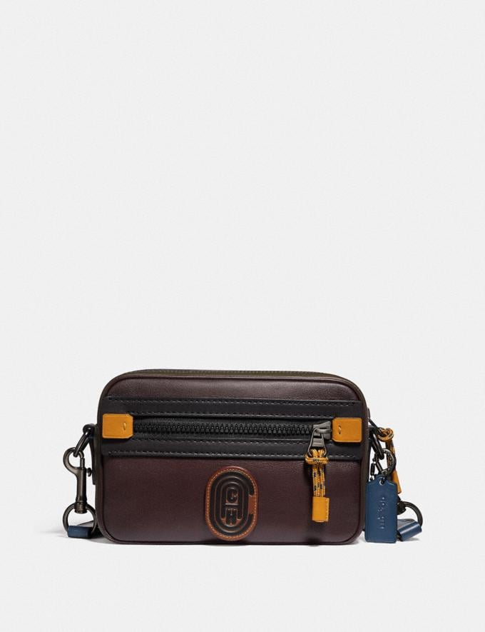 Coach Academy Crossbody in Colorblock With Coach Patch Moss Multi/Black Copper New Men's New Arrivals Bags