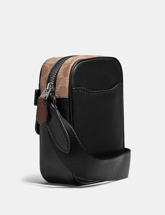 Coach Dylan 10 With Signature Canvas Blocking and Coach Patch Black/Khaki/Black Copper Men Bags Messenger & Crossbody Alternate View 1