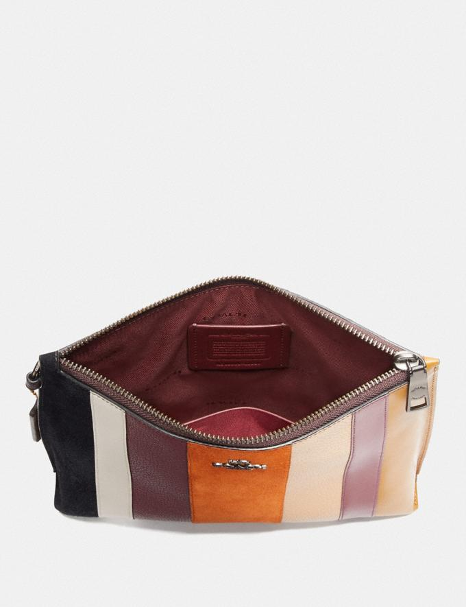 Coach Charlie Pouch With Patchwork Stripes Beechwood Multi/Pewter Women Bags Clutches Alternate View 3