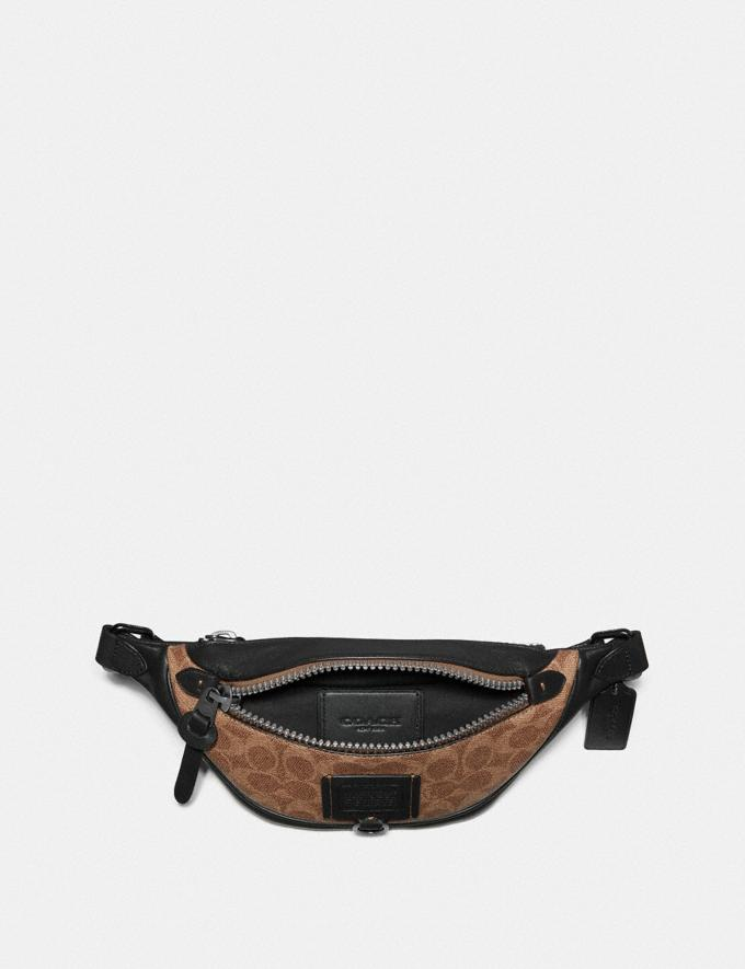 Coach Rivington Belt Bag 7 in Signature Canvas Khaki/Black Copper New Men's New Arrivals Bags Alternate View 2