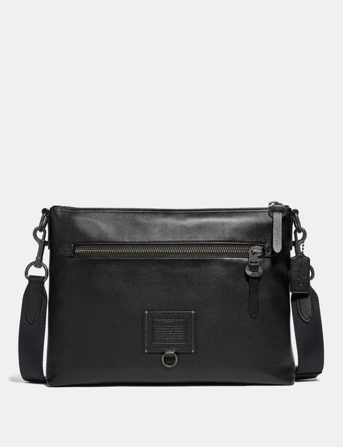 Coach Rivington Messenger Black/Black Copper New Men's New Arrivals Bestsellers