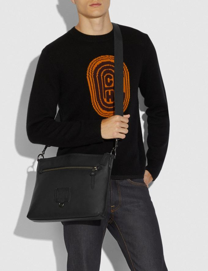 Coach Rivington Messenger Black/Black Copper Cyber Monday Men's Cyber Monday Sale Bags Alternate View 3
