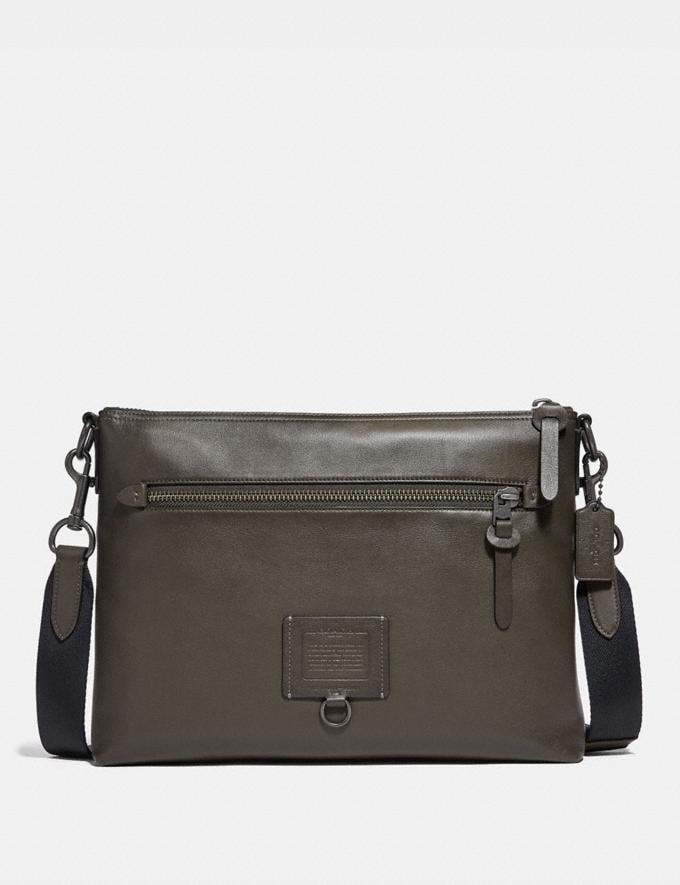 Coach Rivington Messenger Black/Black Copper Men Bags Messenger Bags