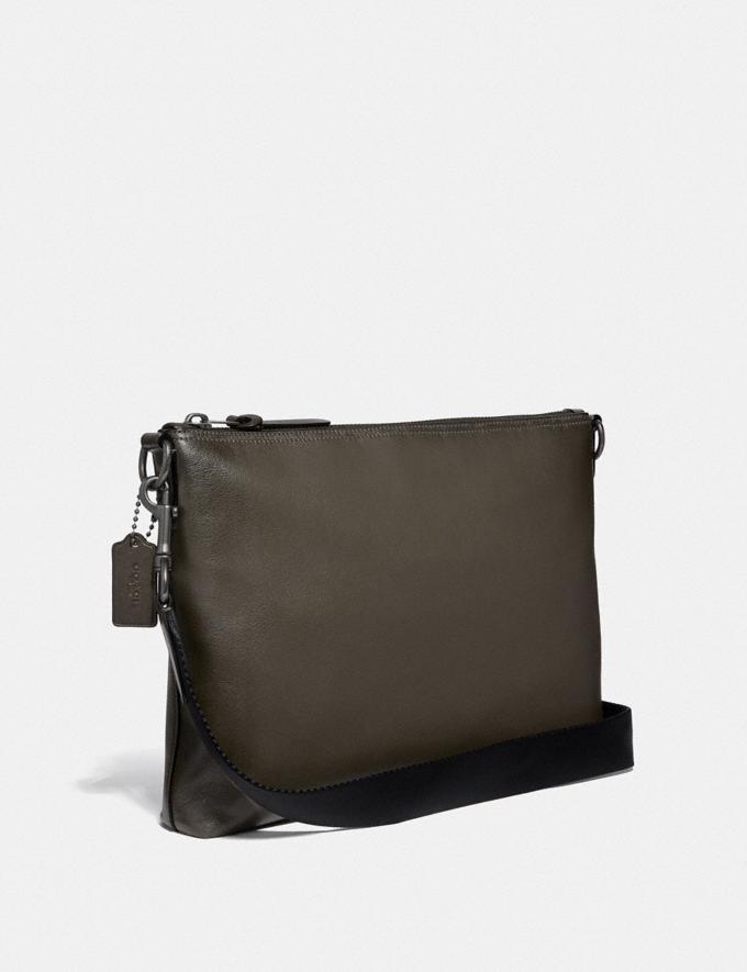 Coach Rivington Messenger Black/Black Copper Men Bags Messenger Bags Alternate View 1