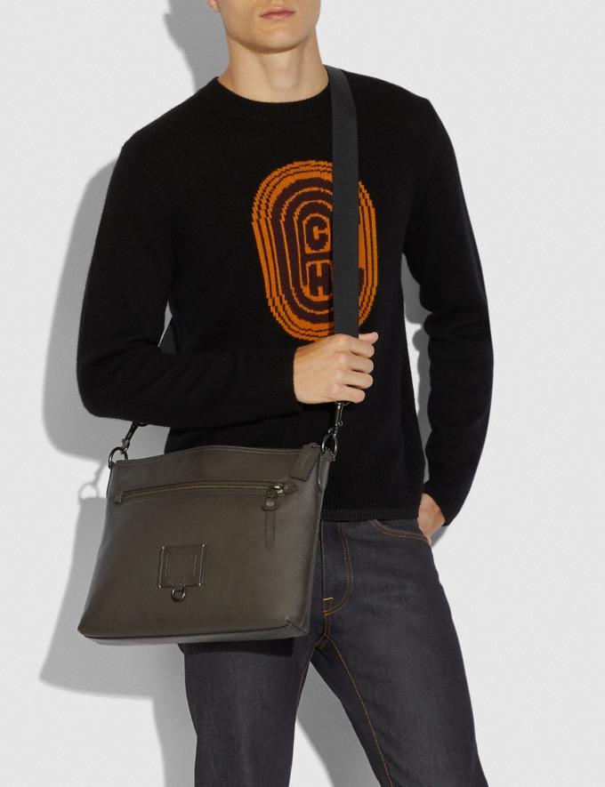 Coach Rivington Messenger Black/Black Copper Men Bags Messenger Bags Alternate View 3