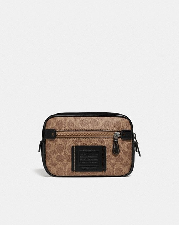Coach ACADEMY L-PACK IN SIGNATURE CANVAS