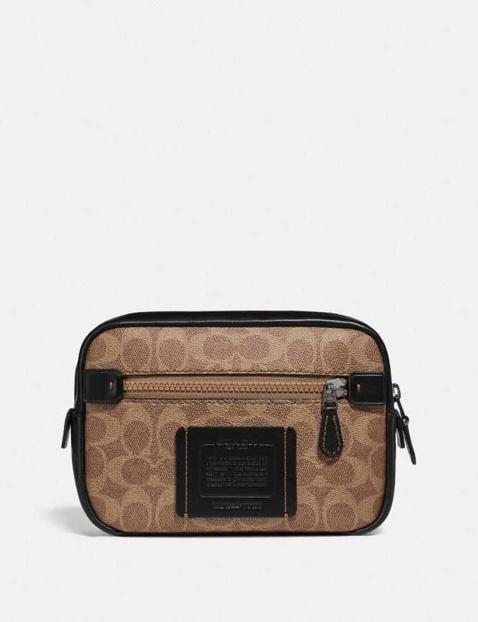 Coach Academy L-Pack in Signature Canvas Khaki/Black Copper New Featured Online Exclusives