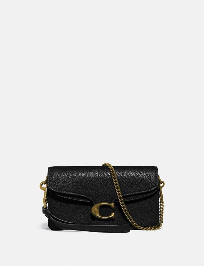 Coach Tabby Crossbody Brass/Black Women Handbags Crossbody Bags