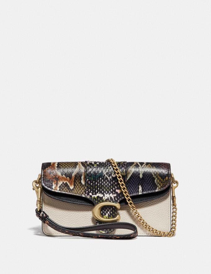 Coach Tabby Crossbody With Snakeskin Detail Chalk Multi/Brass Women Bags View All
