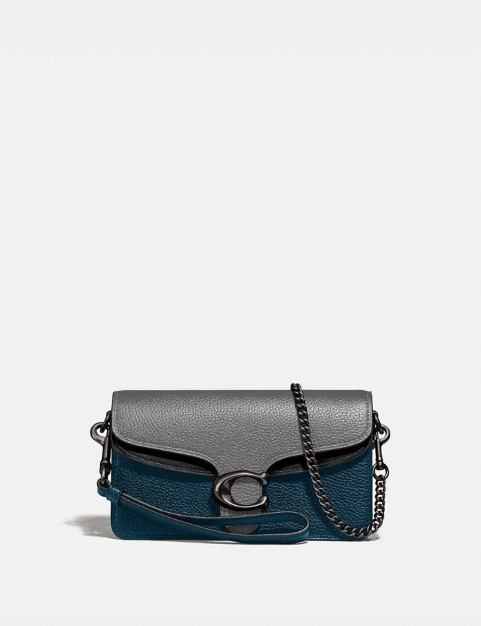 Coach Tabby Crossbody in Colorblock Heather Grey Multi/Pewter Women Small Leather Goods Wristlets