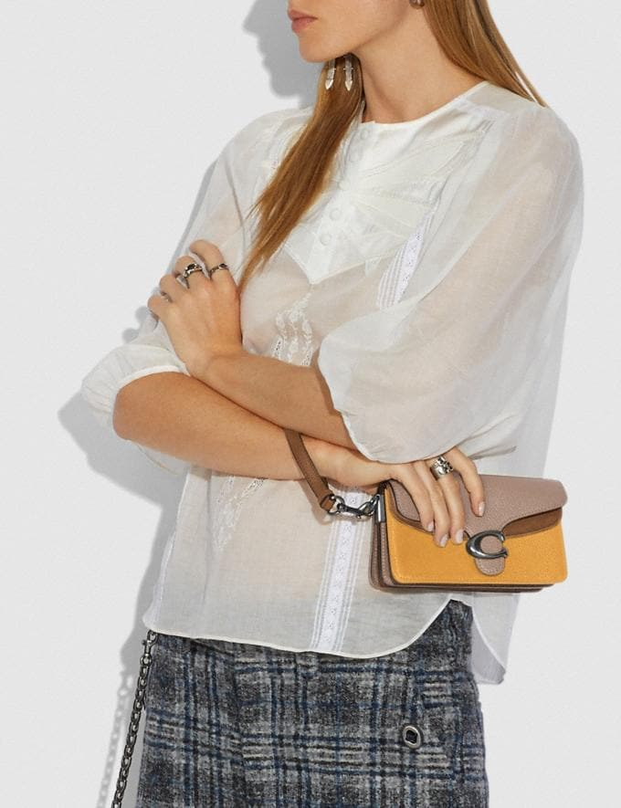 Coach Tabby Crossbody in Colorblock V5/Honeycomb Multi Women Small Leather Goods Wristlets Alternate View 2