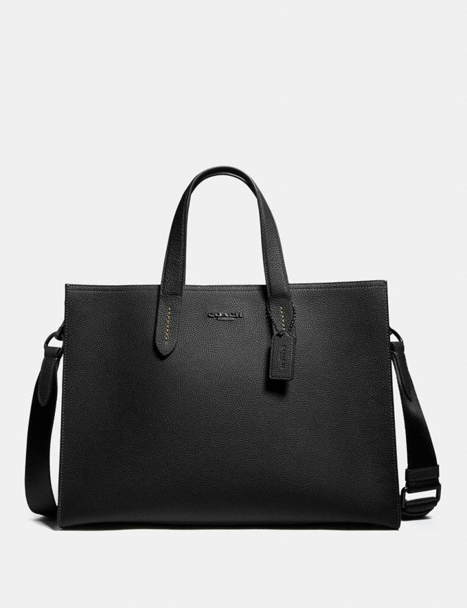 Coach Charlie Brief Black/Black Copper New Men's New Arrivals Bags