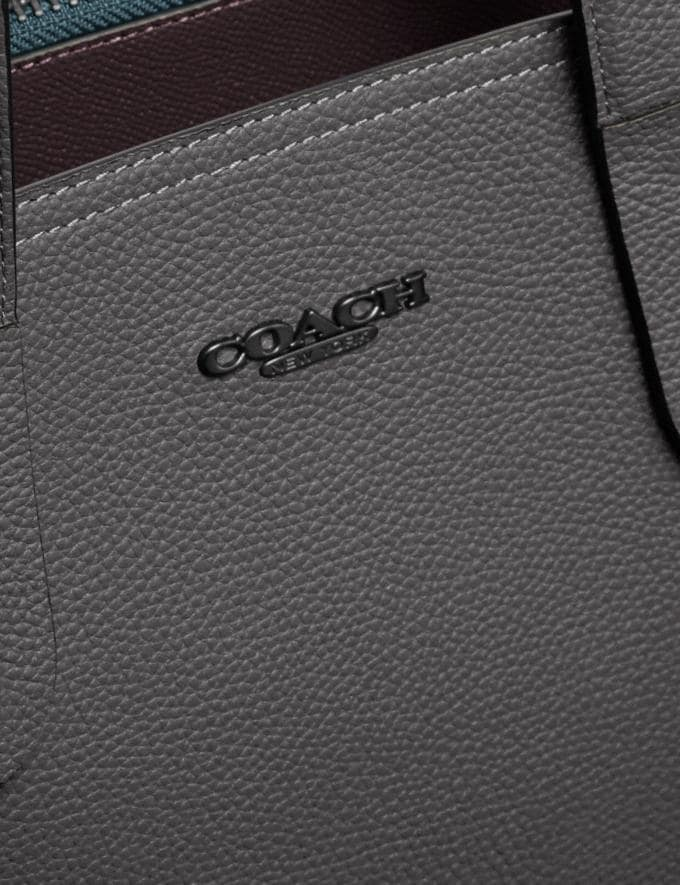 Coach Charlie Brief Grey/Black Copper Men Edits Work Alternate View 4