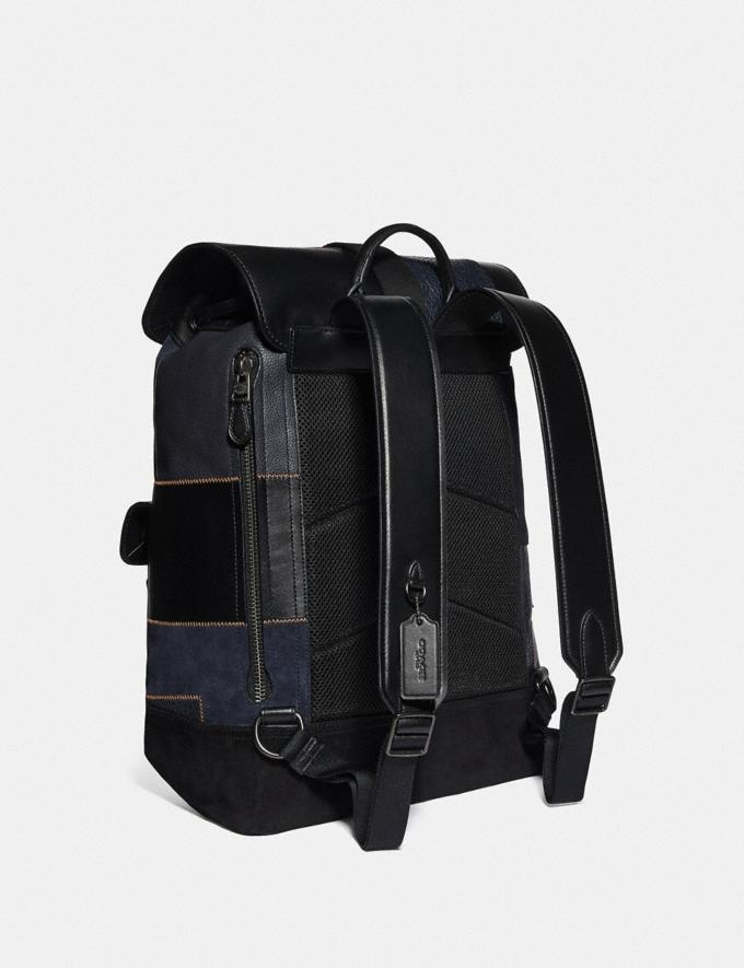 Coach Bleecker Backpack With Patchwork Black/Black Copper Men Bags Backpacks Alternate View 1