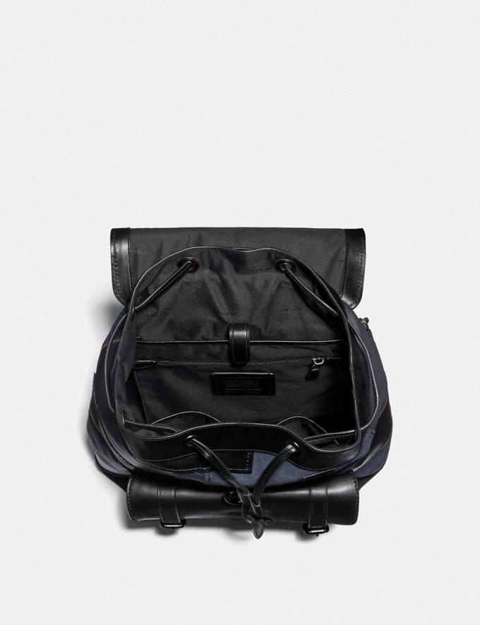 Coach Bleecker Backpack With Patchwork Black/Black Copper Men Bags Backpacks Alternate View 2