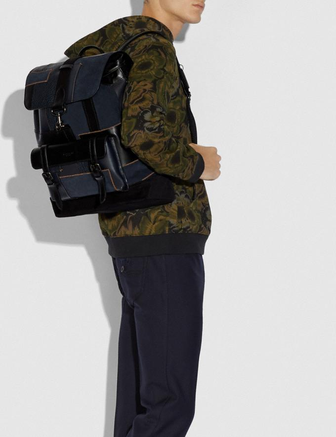 Coach Bleecker Backpack With Patchwork Black/Black Copper New Men's New Arrivals View All Alternate View 3