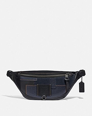 rivington belt bag with patchwork