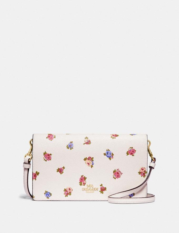 Coach Hayden Foldover Crossbody Clutch With Vintage Rosebud Print Chalk Multi/Gold Women Handbags Crossbody Bags