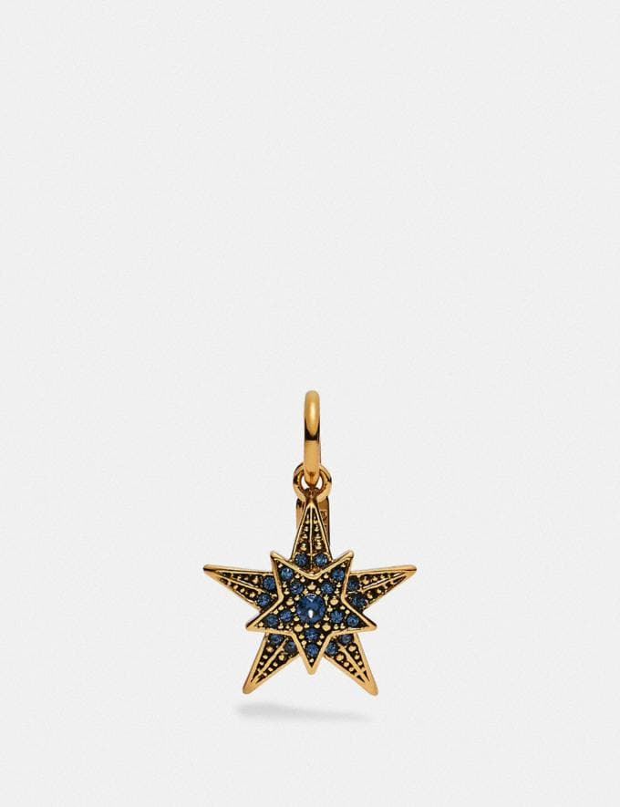 Coach Star Charm Blue/Gold New Women's New Arrivals Accessories