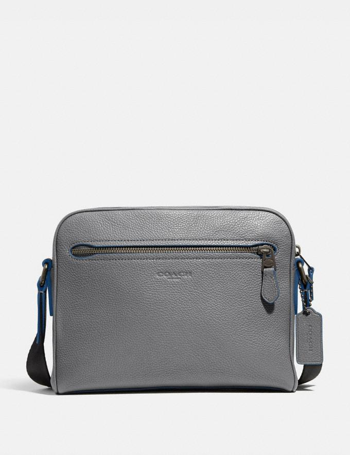 Coach Metropolitan Soft Camera Bag Grey/Black Antique Nickel New Men's New Arrivals View All
