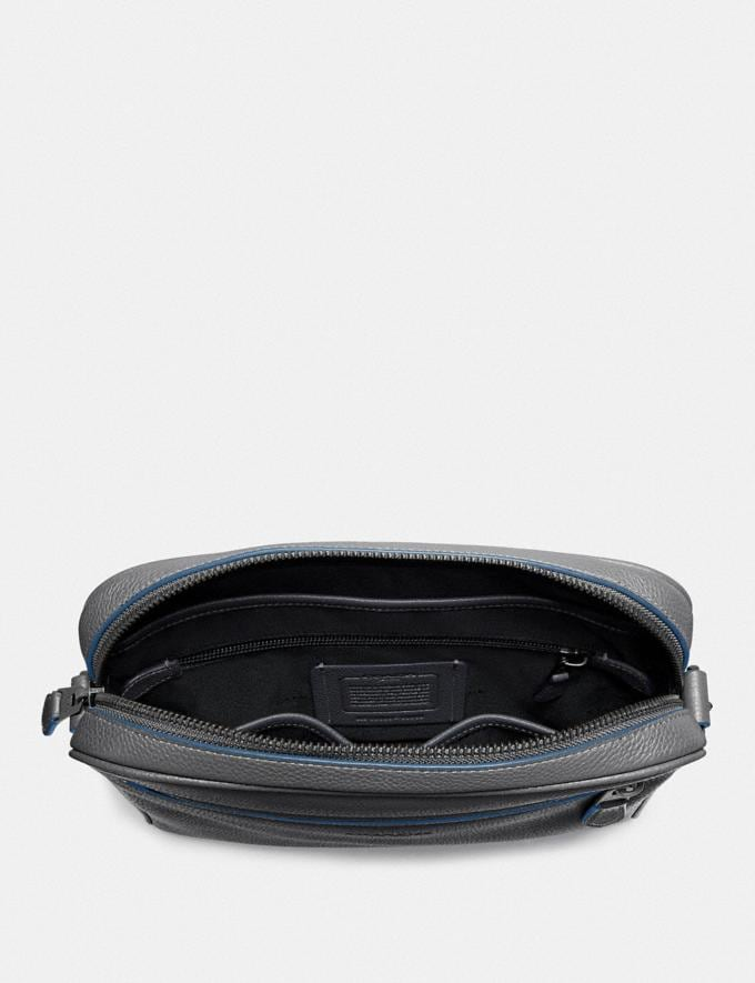 Coach Metropolitan Soft Camera Bag Grey/Black Antique Nickel Men Bags Messenger & Crossbody Alternate View 2