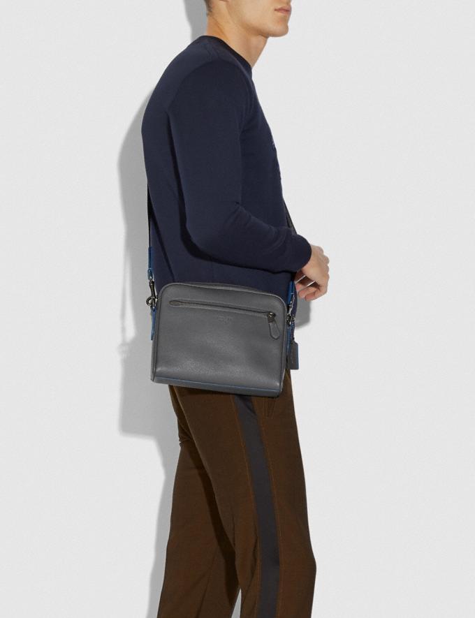 Coach Metropolitan Soft Camera Bag Grey/Black Antique Nickel New Men's New Arrivals View All Alternate View 3