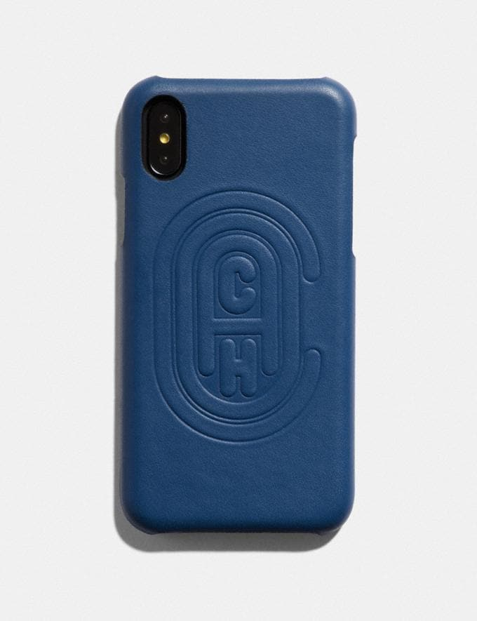Coach iPhone X/Xs Case With Coach Patch True Blue New Men's New Arrivals