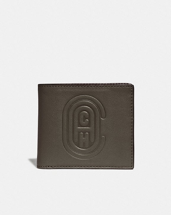 Coach DOUBLE BILLFOLD WALLET WITH COACH PATCH