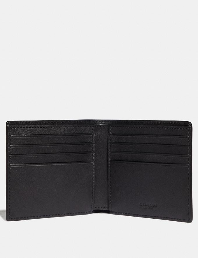 Coach Double Billfold Wallet With Coach Patch Moss New Men's New Arrivals Wallets Alternate View 1