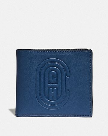 DOUBLE BILLFOLD WALLET WITH COACH PATCH