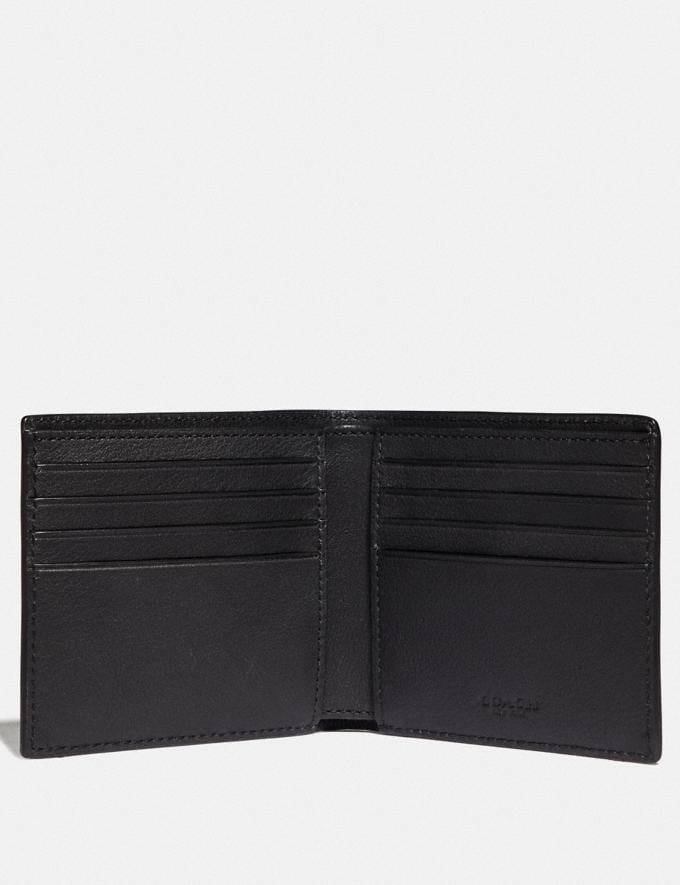 Coach Double Billfold Wallet With Coach Patch True Blue Men Wallets Billfolds Alternate View 1