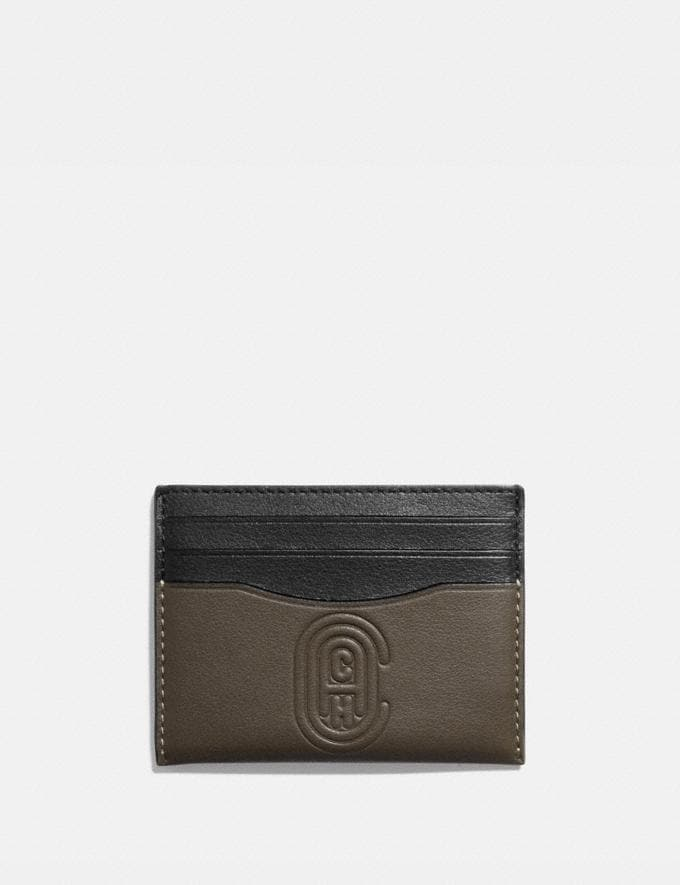 Coach Card Case With Coach Patch Moss New Men's New Arrivals Wallets