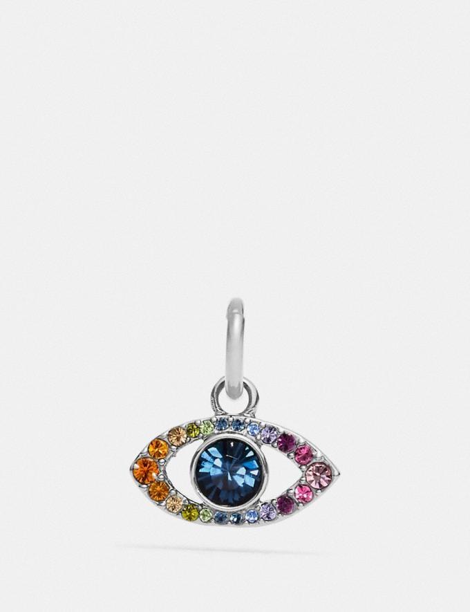 Coach Rainbow Evil Eye Charm Multi/Silver New Women's New Arrivals Accessories