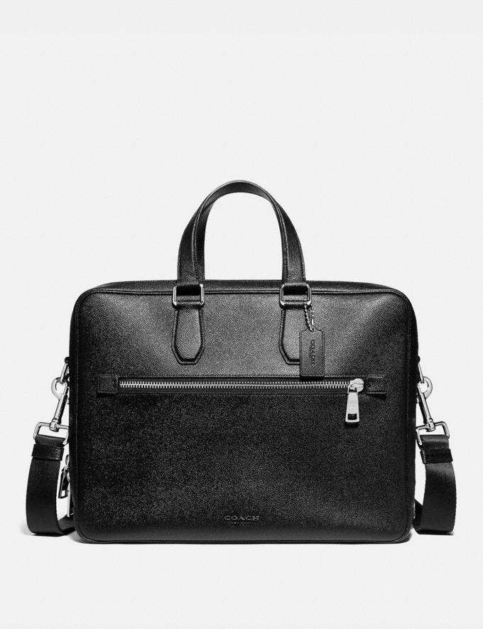 Coach Kennedy Double Zip Brief Black/Silver New Men's New Arrivals Bags