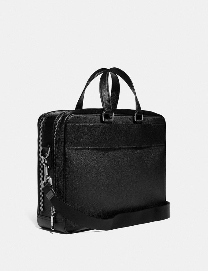 Coach Kennedy Double Zip Brief Black/Silver New Men's New Arrivals Bags Alternate View 1