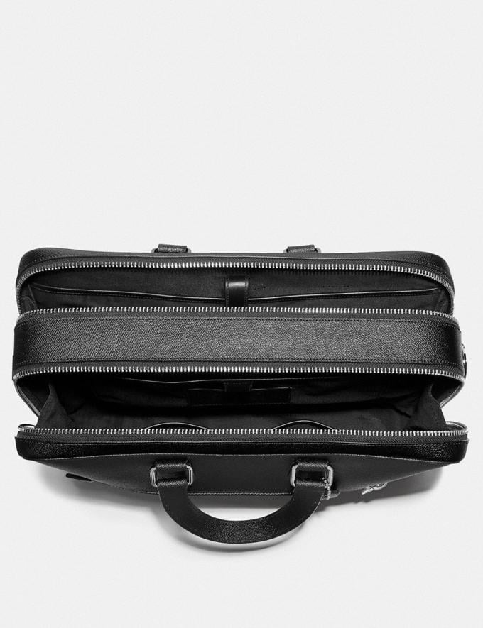 Coach Kennedy Double Zip Brief Black/Silver New Men's New Arrivals Bags Alternate View 2