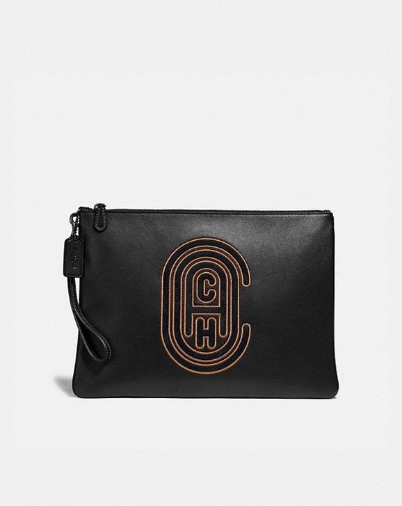 Coach POUCH 30 WITH COACH PATCH