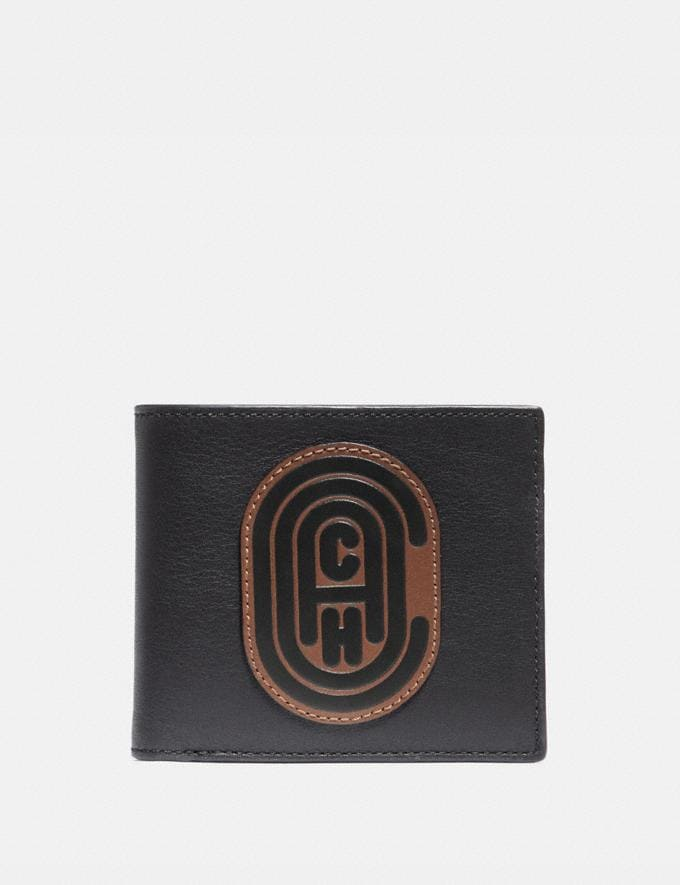 Coach Double Billfold Wallet With Signature Canvas Blocking and Coach Patch Khaki Cyber Monday Men's Cyber Monday Sale Wallets