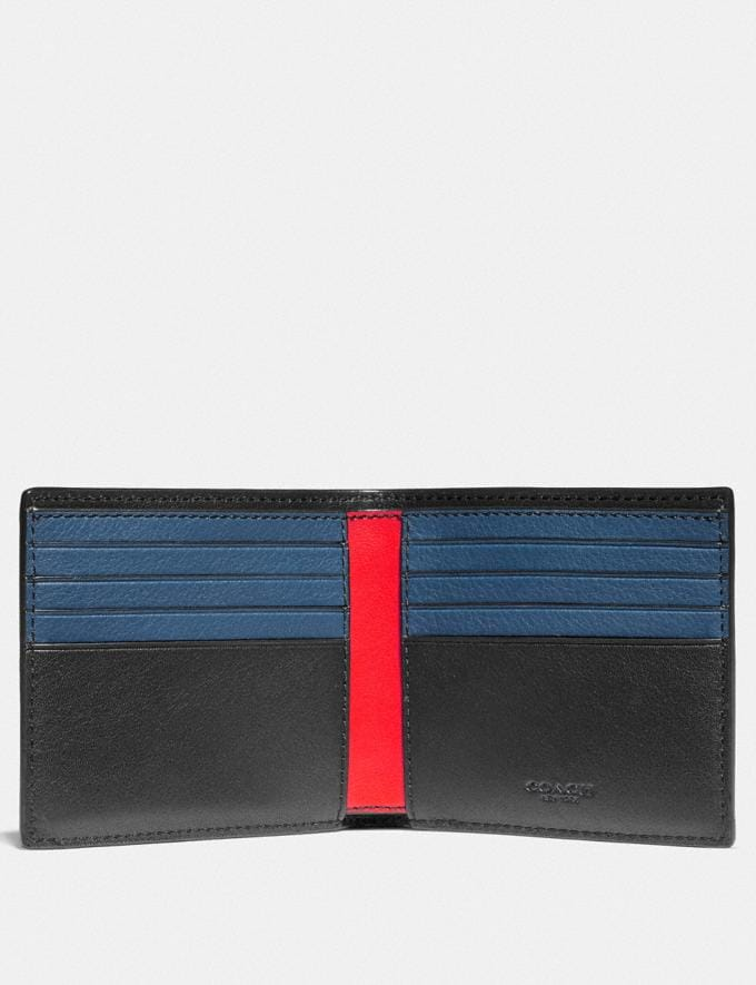 Coach Double Billfold Wallet With Coach Patch Oxblood New Men's New Arrivals Wallets Alternate View 1