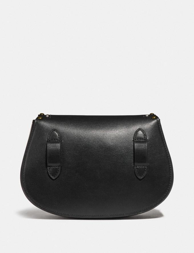 Coach Saddle Belt Bag With Scallop Rivets Black/Brass SALE Ready, Set, Holiday Event Women's Alternate View 2