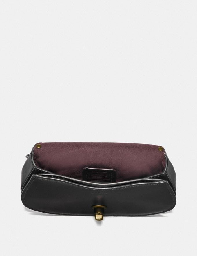 Coach Saddle Belt Bag With Scallop Rivets Black/Brass SALE Ready, Set, Holiday Event Women's Alternate View 3