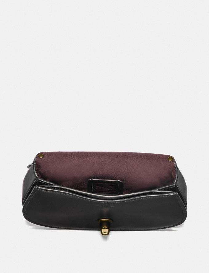 Coach Saddle Belt Bag With Scallop Rivets Black/Brass Women Bags Belt Bags Alternate View 3