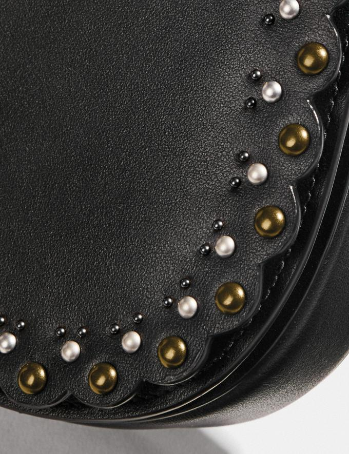 Coach Saddle Belt Bag With Scallop Rivets Black/Brass SALE Ready, Set, Holiday Event Women's Alternate View 6