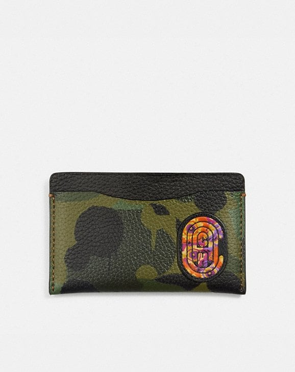 Coach SMALL CARD CASE WITH WILD BEAST PRINT AND KAFFE FASSETT COACH PATCH
