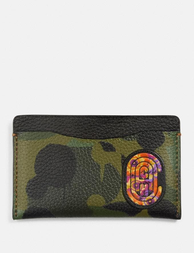Coach Small Card Case With Wild Beast Print and Kaffe Fassett Coach Patch Surplus New Featured Coach x Kaffe