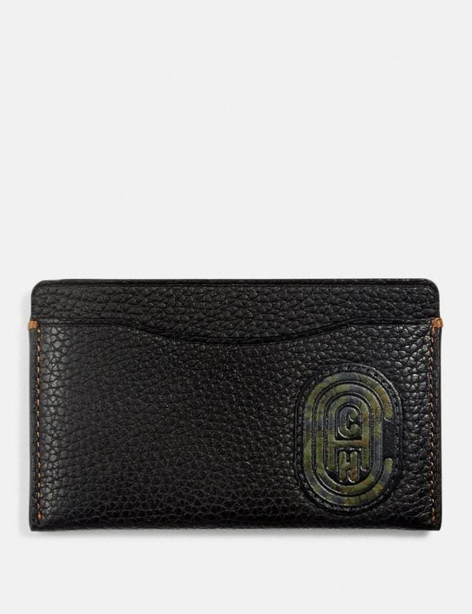 Coach Small Card Case With Kaffe Fassett Coach Patch Black New Featured Coach x Kaffe