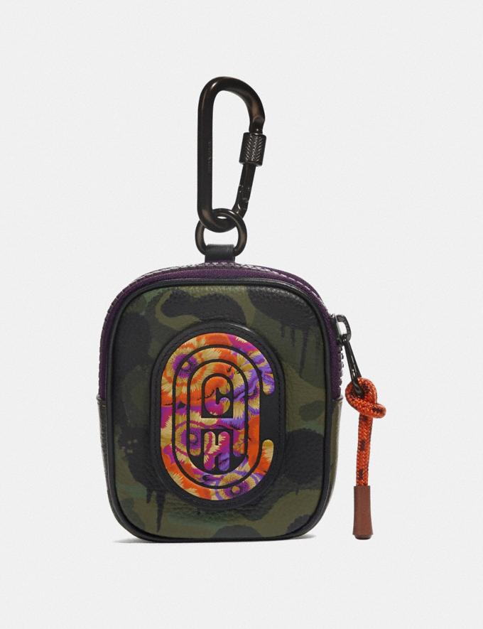 Coach Hybrid Pouch 8 With Wild Beast Print and Kaffe Fassett Coach Patch Surplus New Men's New Arrivals Accessories