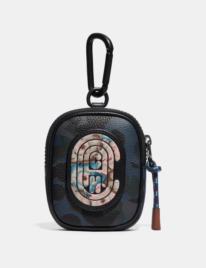 Coach Hybrid Pouch 8 With Wild Beast Print and Kaffe Fassett Coach Patch Blue New Men's New Arrivals Accessories