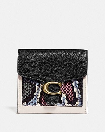 TABBY SMALL WALLET WITH SNAKESKIN DETAIL